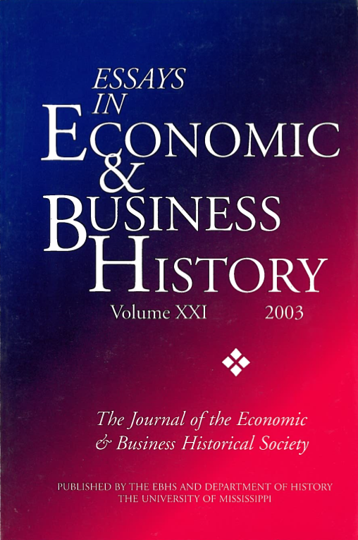 Essays in Economic & Business History 2003