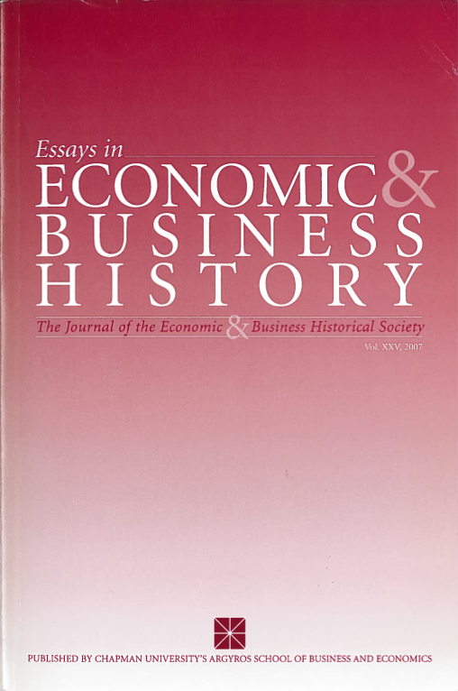 Essays in Economic & Business History 2007