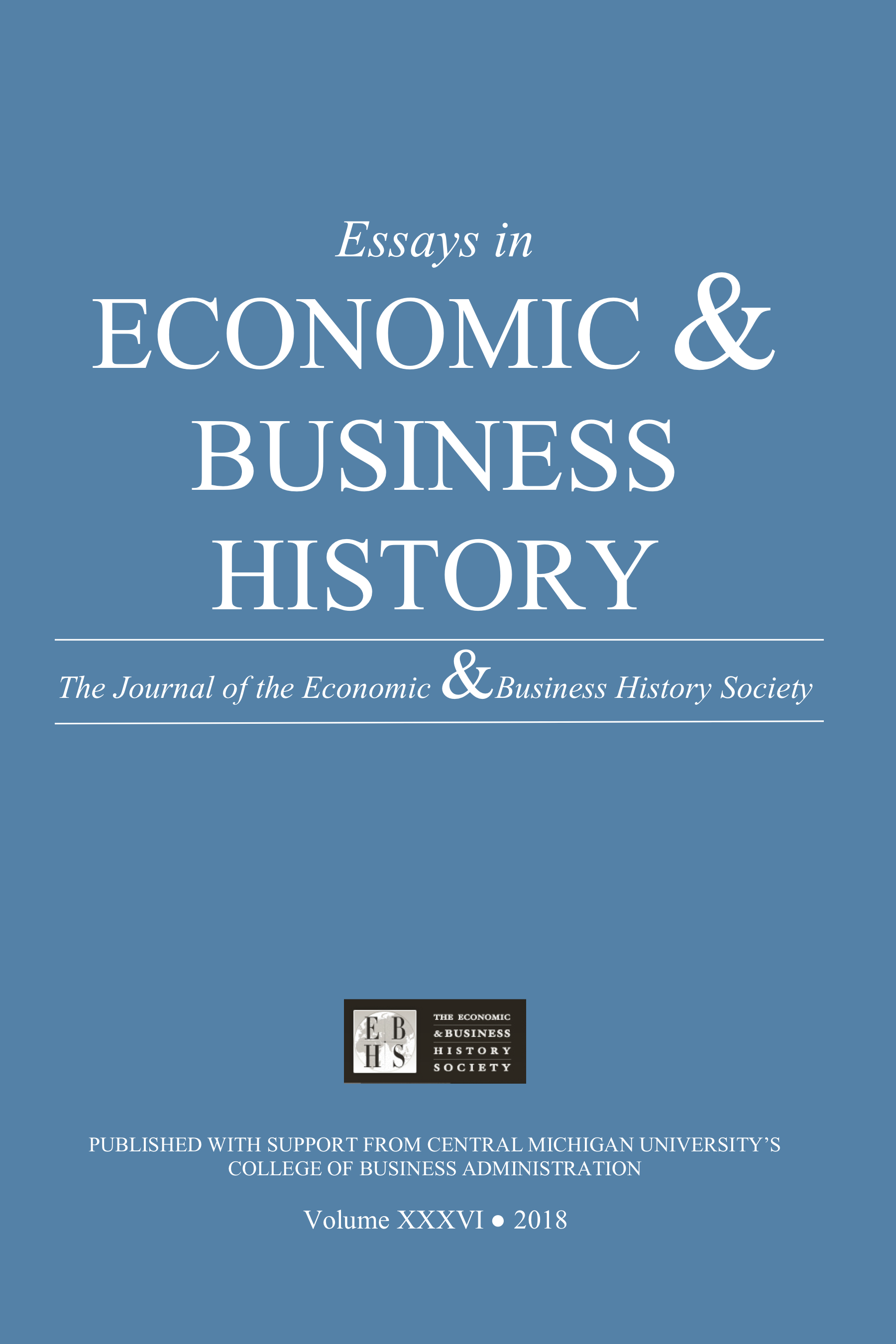Essays in Economic & Business History 2018
