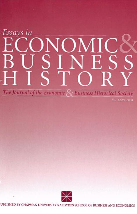 Essays in Economic & Business History 2008